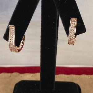 14K Rose Gold Plated 1/2 inch Huggy Hoop Earrings